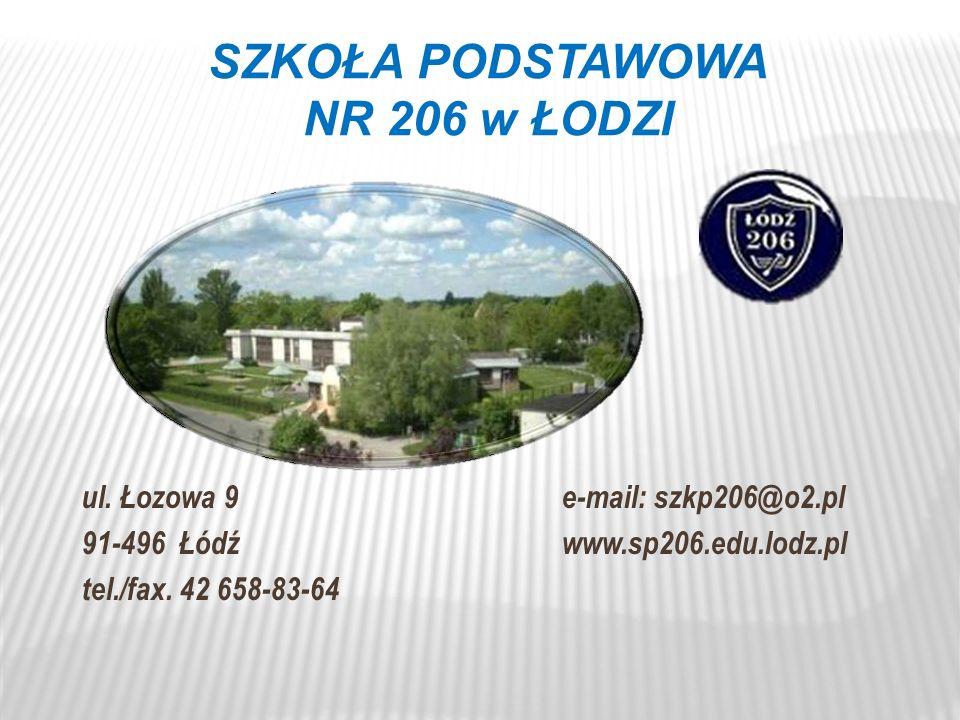 SZKOŁA PODSTAWOWA NR 206 w ŁODZI ul.