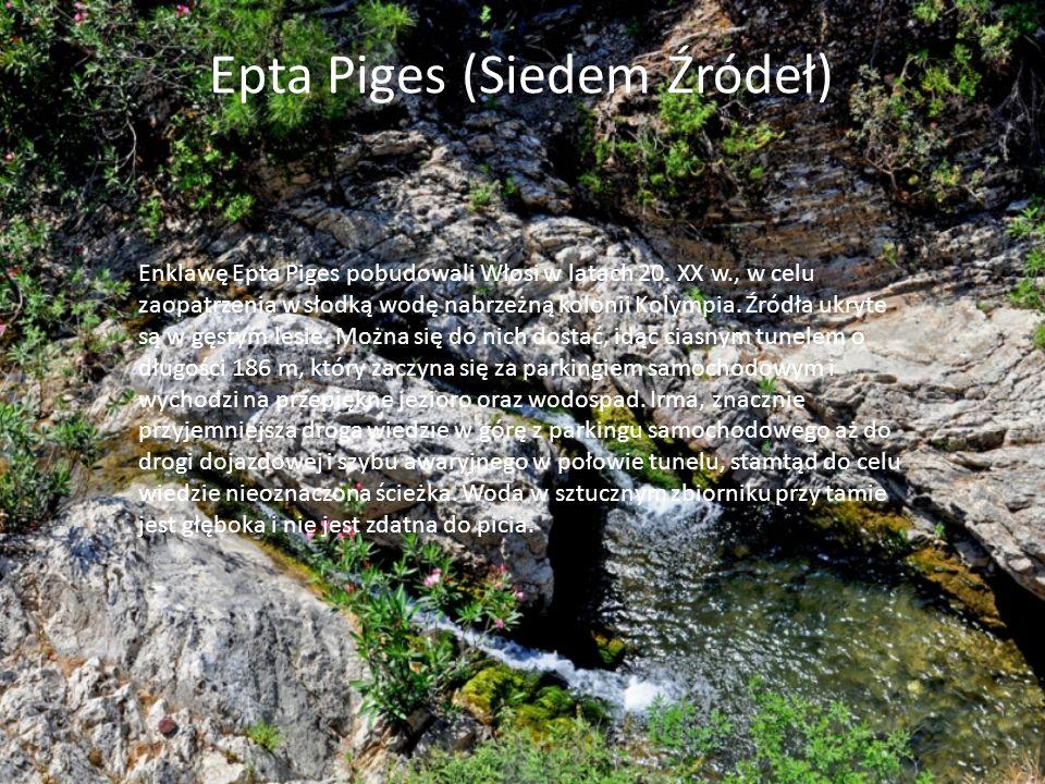 Jest to jedna z najbardziej popularnych atrakcji przyrodniczych na wyspie Rodos.