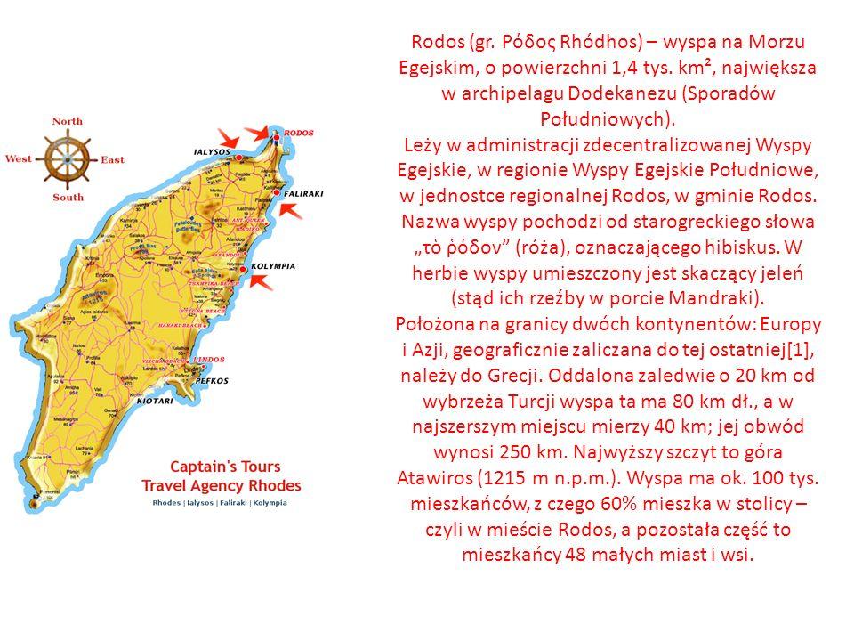 Wyspa Rodos Wyspą Grecką na której byłam wiele razy była właśnie cudowna wyspa Rodos. Miasto Rodos leży na najbardziej wysuniętym na północ krańcu wys