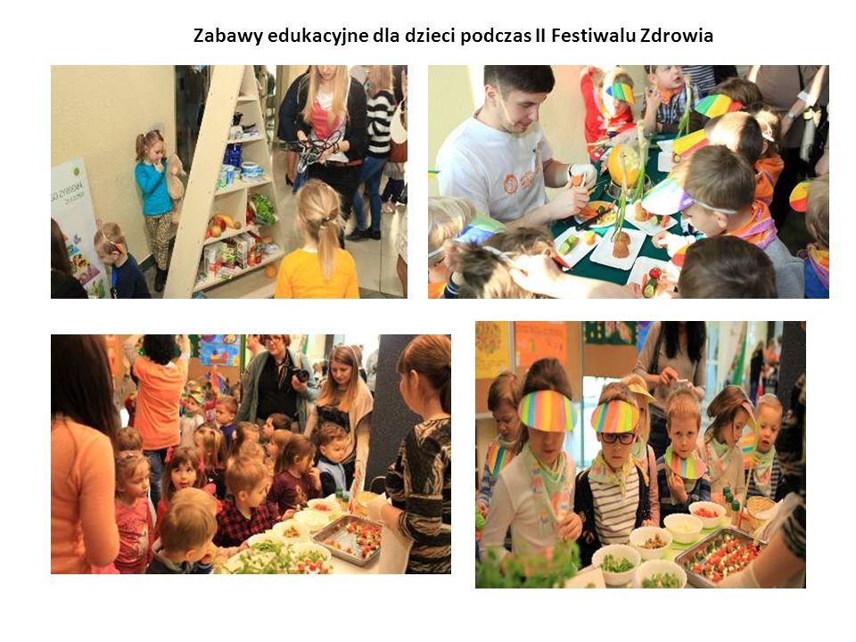 Zabawy edukacyjne dla dzieci podczas II Festiwalu Zdrowia