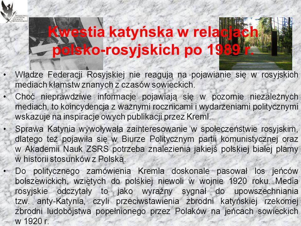 Kwestia katyńska w relacjach polsko-rosyjskich po 1989 r.