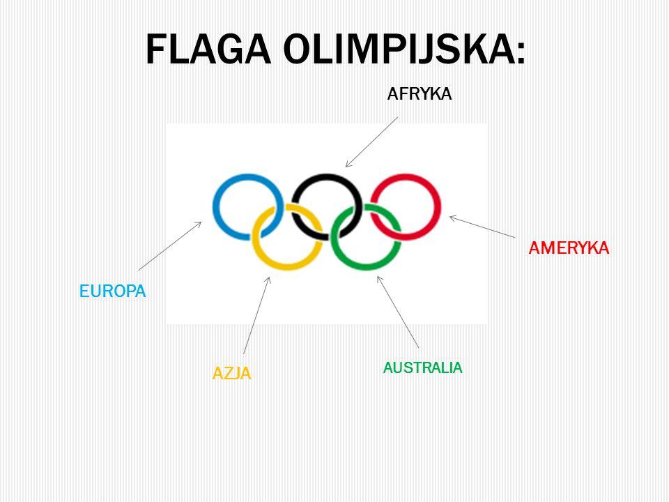 FLAGA OLIMPIJSKA: EUROPA AFRYKA AMERYKA AUSTRALIA AZJA