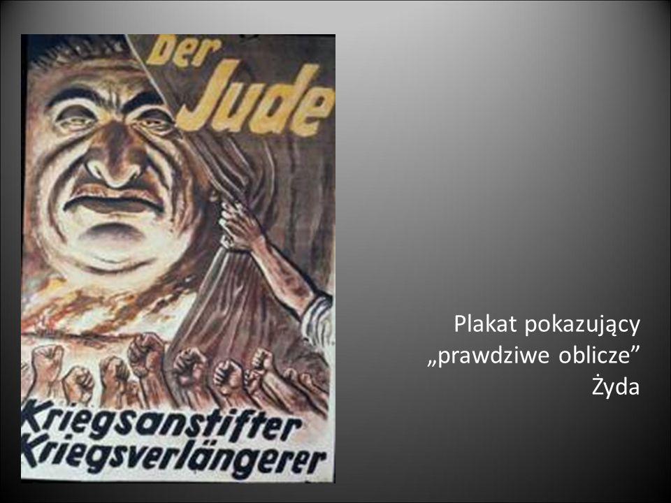 """Plakat pokazujący """"prawdziwe oblicze"""" Żyda"""