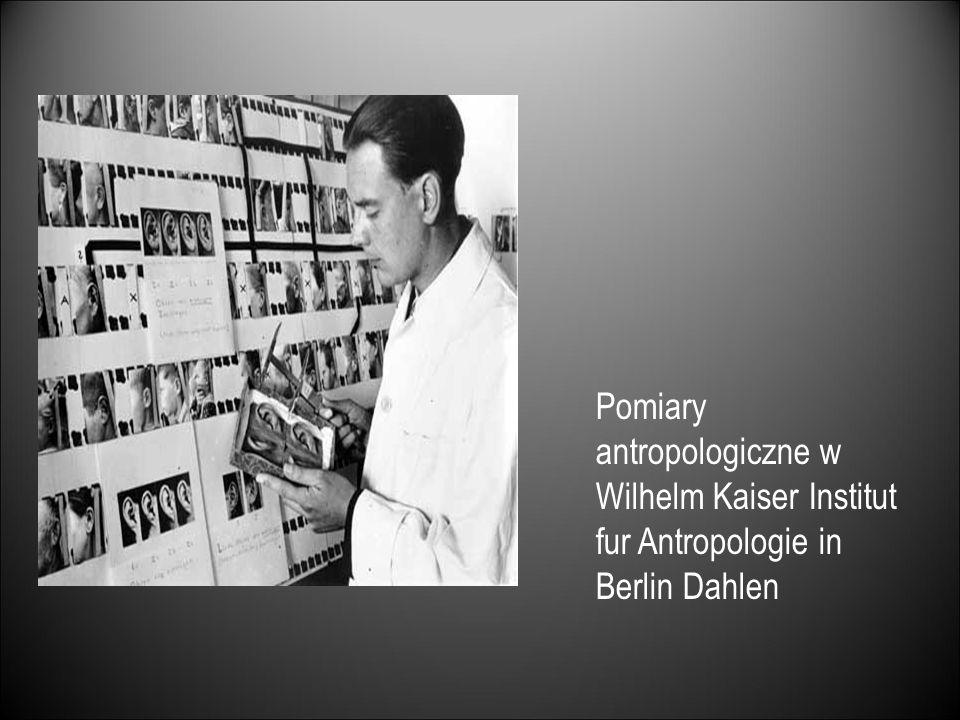 Pomiary antropologiczne w Wilhelm Kaiser Institut fur Antropologie in Berlin Dahlen