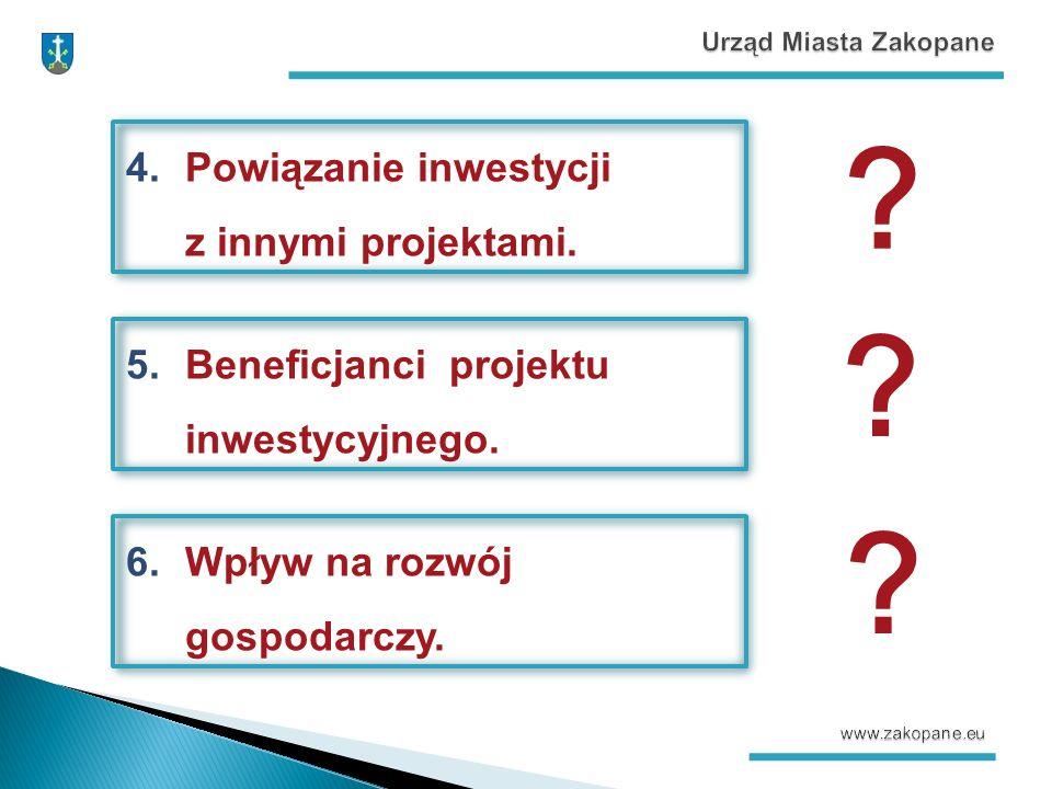 4.Powiązanie inwestycji z innymi projektami. 5.Beneficjanci projektu inwestycyjnego.