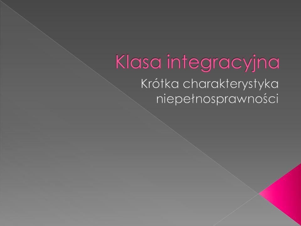  Klasa integracyjna liczy maksymalnie 20 osób, w tym do 5 dzieci niepełnosprawnych.