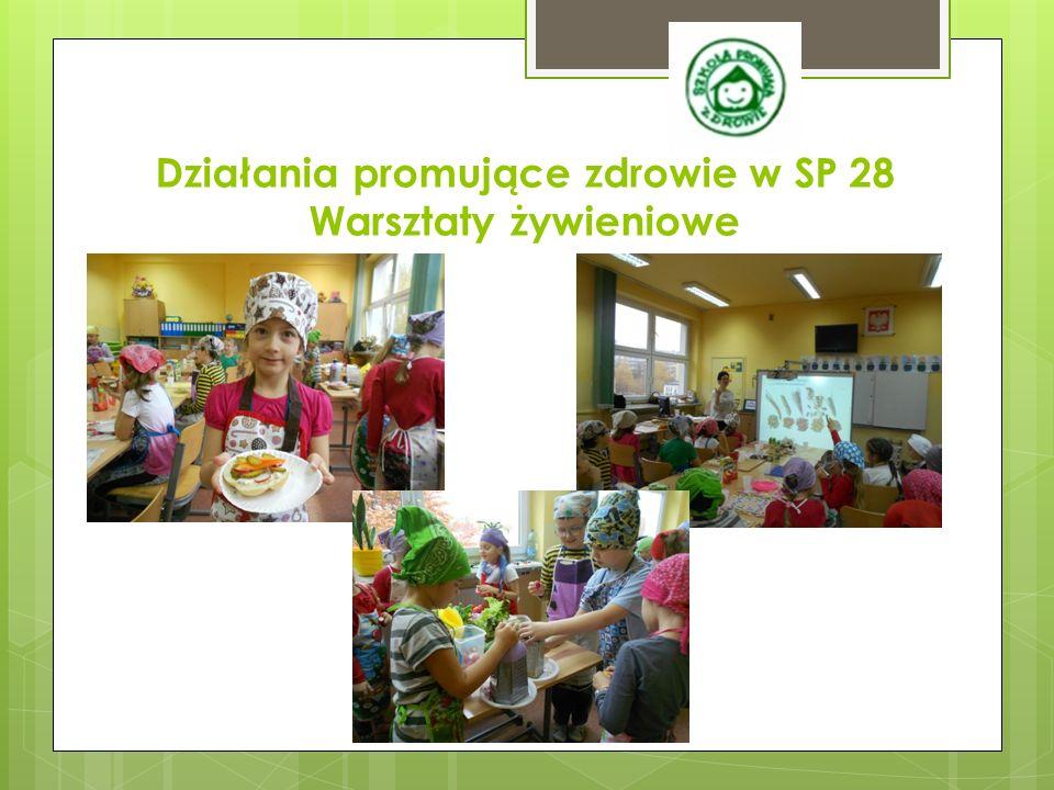 Działania promujące zdrowie w SP 28 Warsztaty żywieniowe