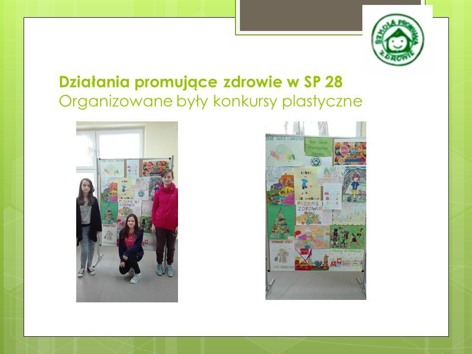 Działania promujące zdrowie w SP 28 Organizowane były konkursy plastyczne