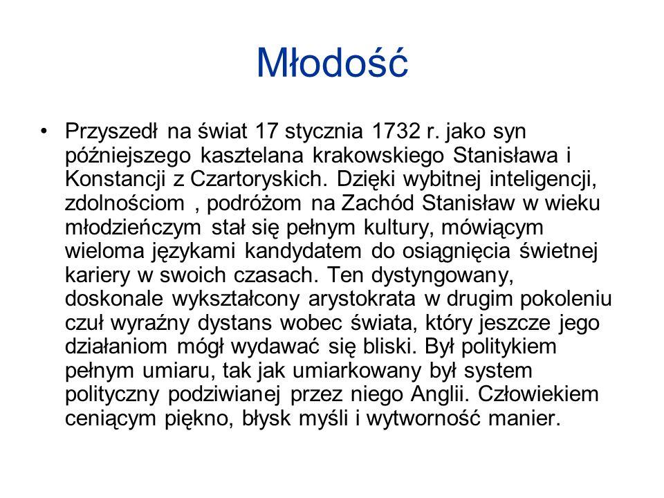 Młodość Przyszedł na świat 17 stycznia 1732 r. jako syn późniejszego kasztelana krakowskiego Stanisława i Konstancji z Czartoryskich. Dzięki wybitnej