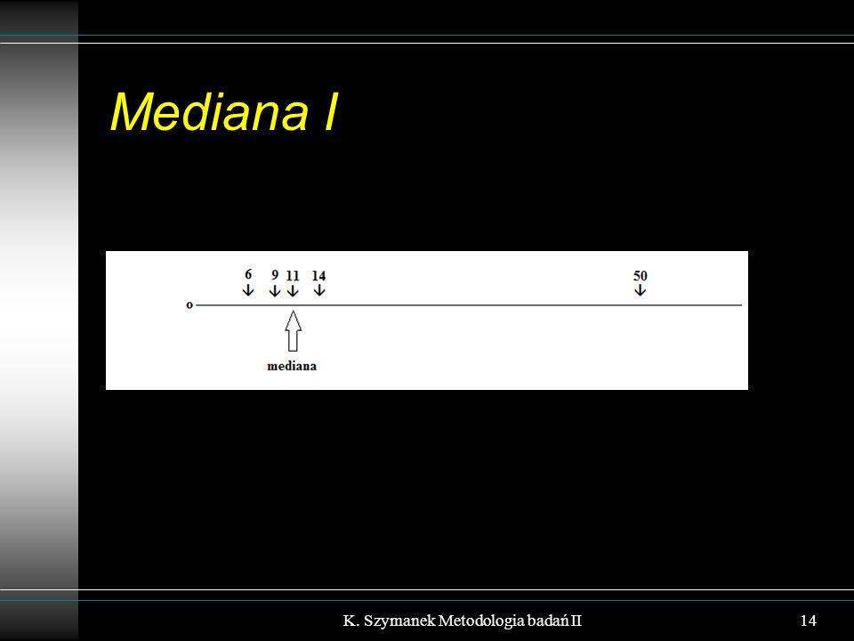 Mediana I 14K. Szymanek Metodologia badań II