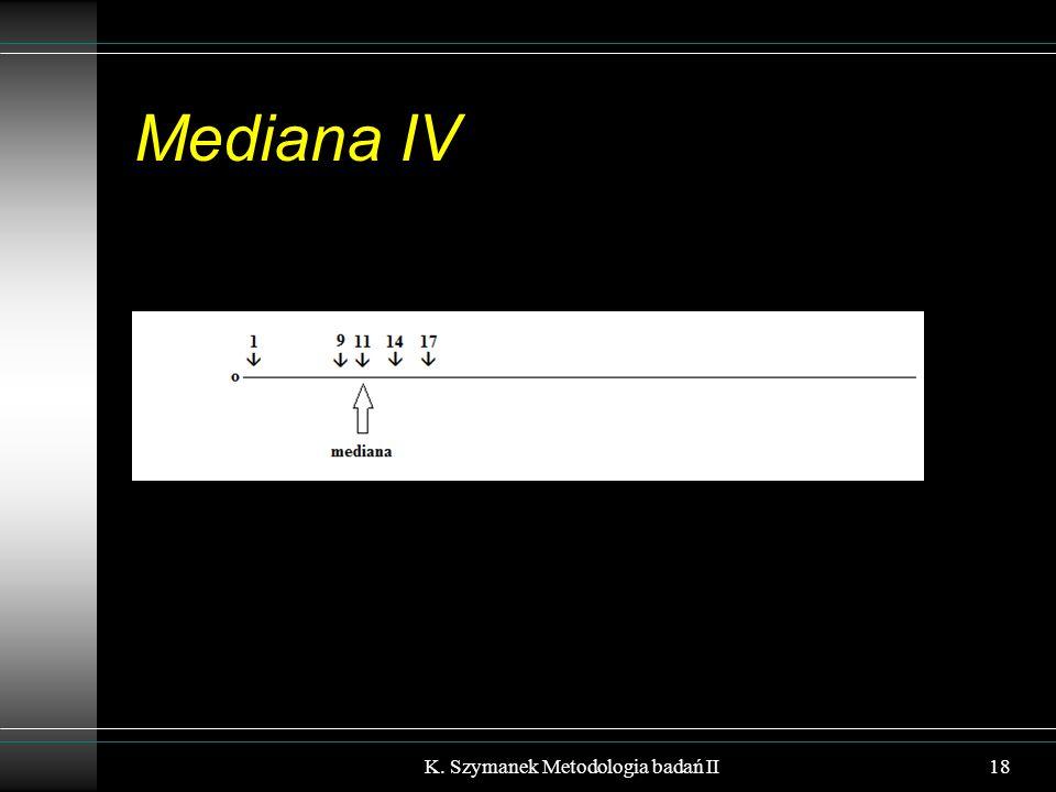 Mediana IV 18K. Szymanek Metodologia badań II