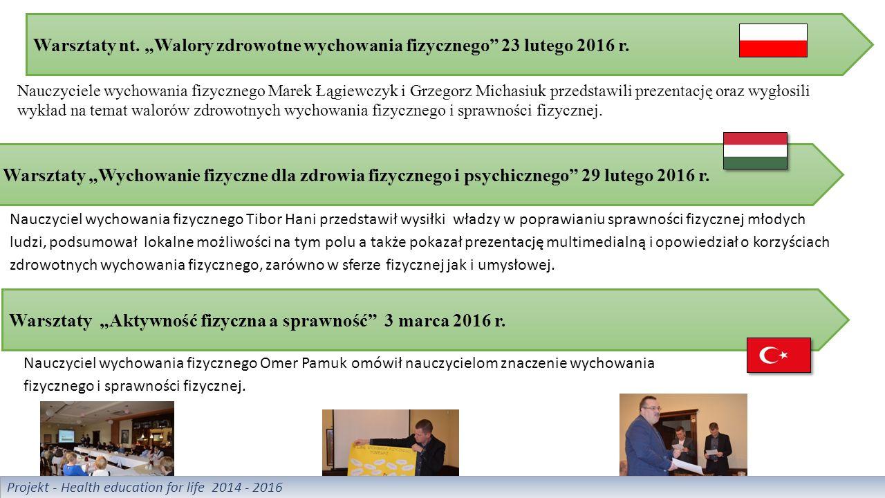 """Warsztaty nt. """"Walory zdrowotne wychowania fizycznego 23 lutego 2016 r."""