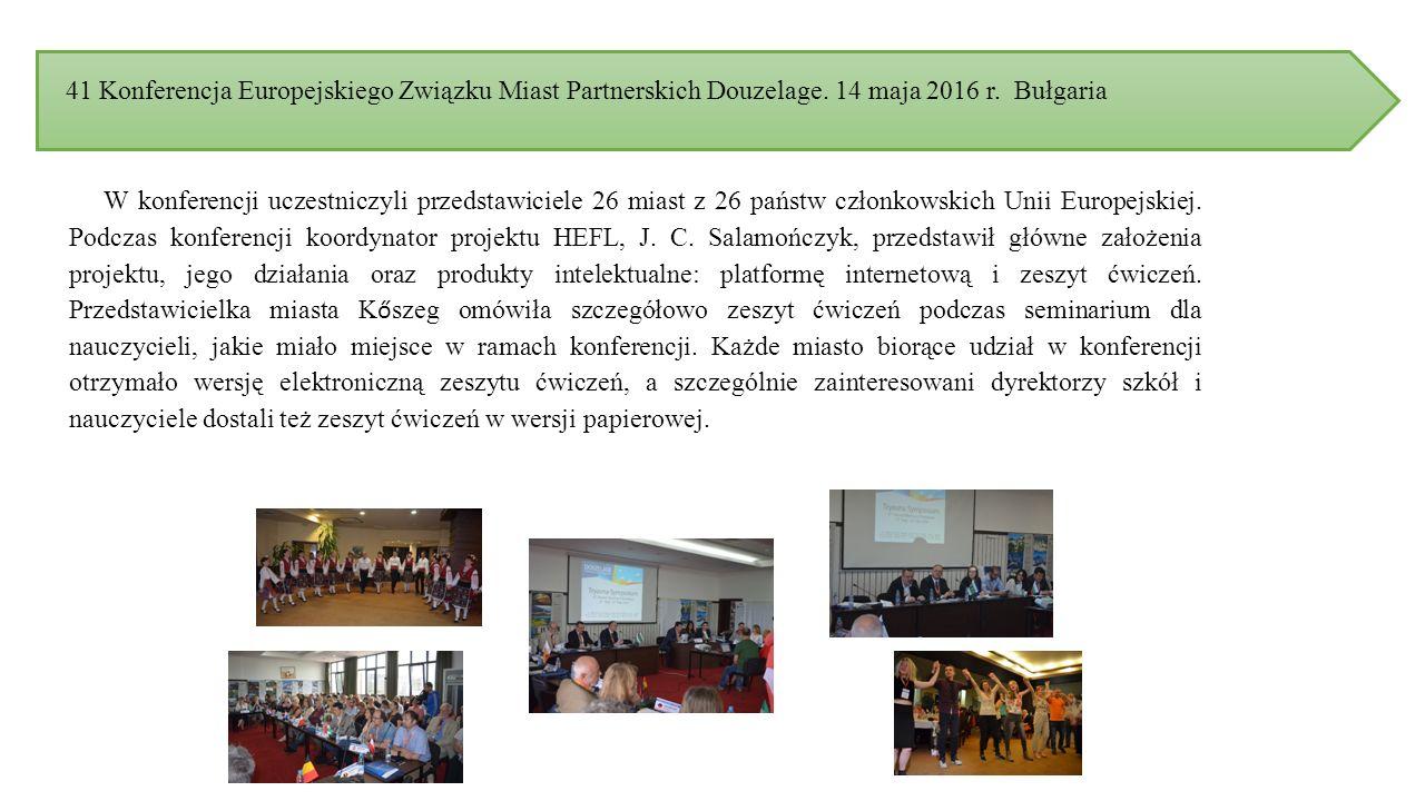 41 Konferencja Europejskiego Związku Miast Partnerskich Douzelage.
