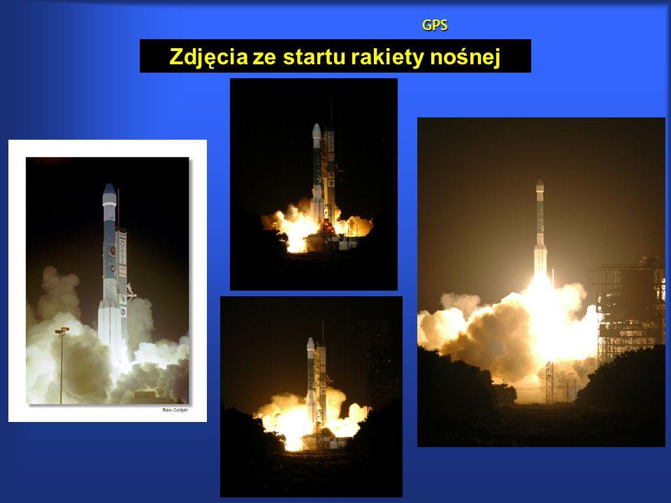GPS Zdjęcia ze startu rakiety nośnej