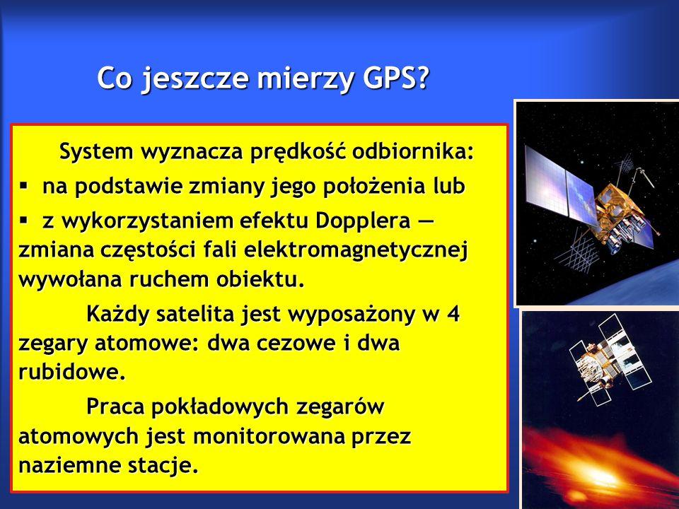 Co jeszcze mierzy GPS.