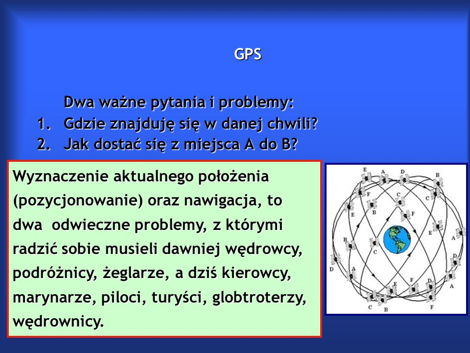 GPS Nawigacja to dział wiedzy żeglarskiej lub lotniczej obejmujący zespół wiado- mości i umiejętności potrzebnych do prowadzenia statków morskich lub po- wietrznych do określonego celu i określania na mapie ich położenia.