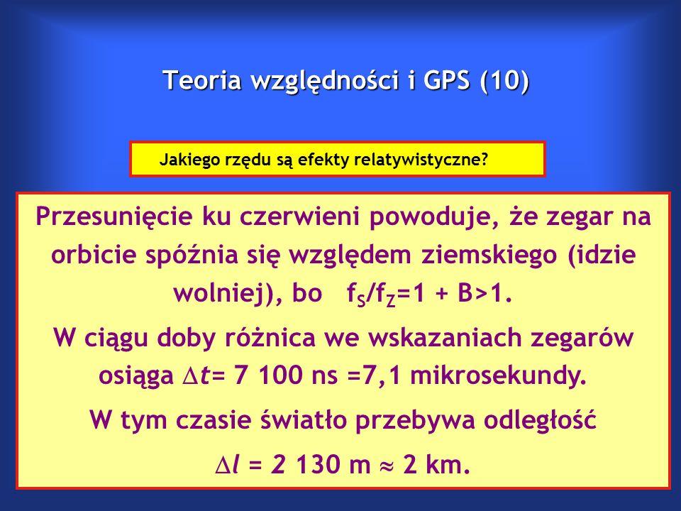 Teoria względności i GPS (10) Jakiego rzędu są efekty relatywistyczne.