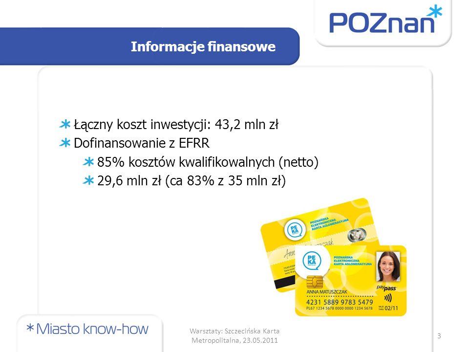 Badania ankietowe (1) Stosunek respondentów do korzystania z karty PEKA duże zainteresowanie kartą jedynie grupa uczniów oraz emerytów była nieznacznie bardziej niechętna ewentualnemu korzystaniu z karty 14 Warsztaty: Szczecińska Karta Metropolitalna, 23.05.2011