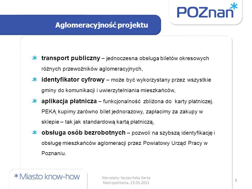 Badania ankietowe (6) Deklarowana częstotliwość wykorzystania karty PEKA jako biletu/karty parkingowej Oczywisty jest niski poziom zainteresowania tą usługą wśród osób niepełnoletnich, jako osób niezmotoryzowanych.