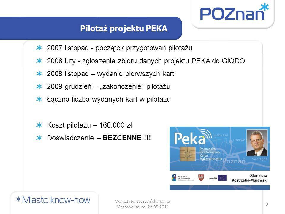 Badania ankietowe (7) Posiadanie karty płatniczej a chęć korzystania z karty PEKA tylko nie kolejny PIN i konto.