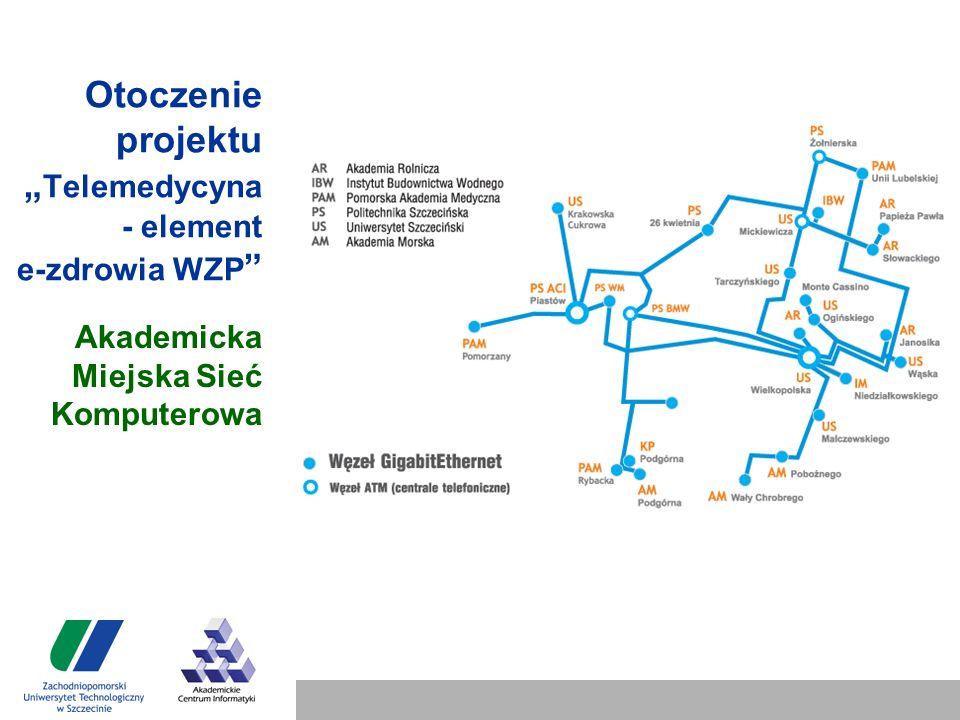 """Otoczenie projektu """" Telemedycyna - element e-zdrowia WZP Akademicka Miejska Sieć Komputerowa"""