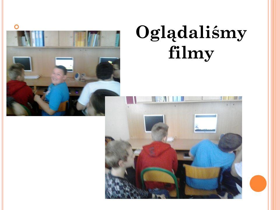 Prezentowaliśmy nasze prace przed klasą