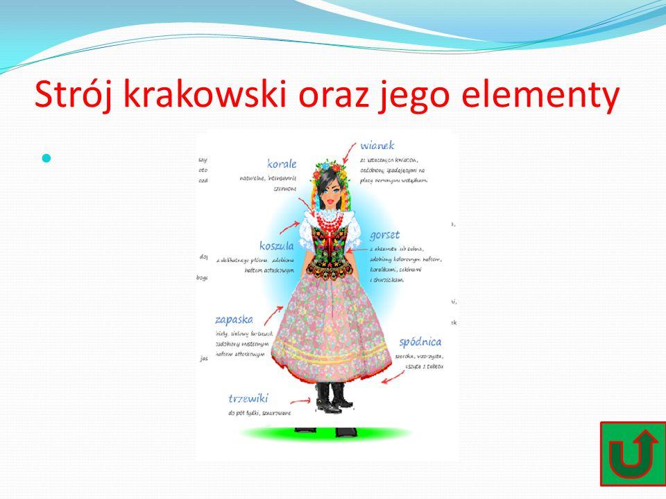 Strój krakowski oraz jego elementy