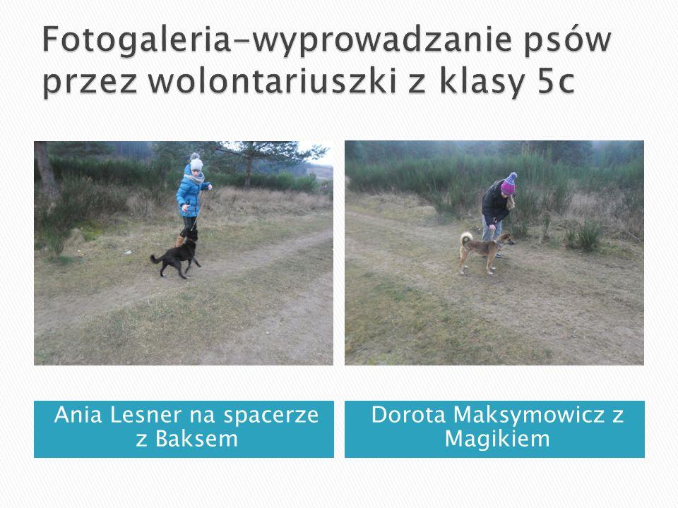 Ania Lesner na spacerze z Baksem Dorota Maksymowicz z Magikiem