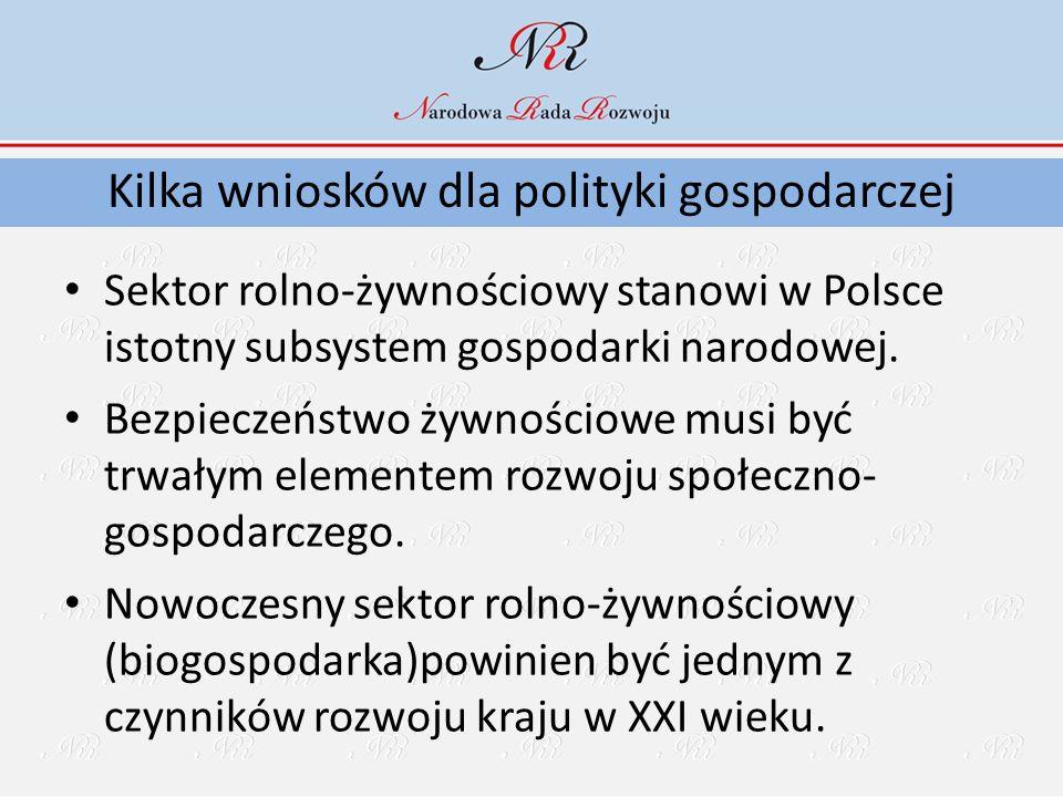 Sektor rolno-żywnościowy stanowi w Polsce istotny subsystem gospodarki narodowej. Bezpieczeństwo żywnościowe musi być trwałym elementem rozwoju społec
