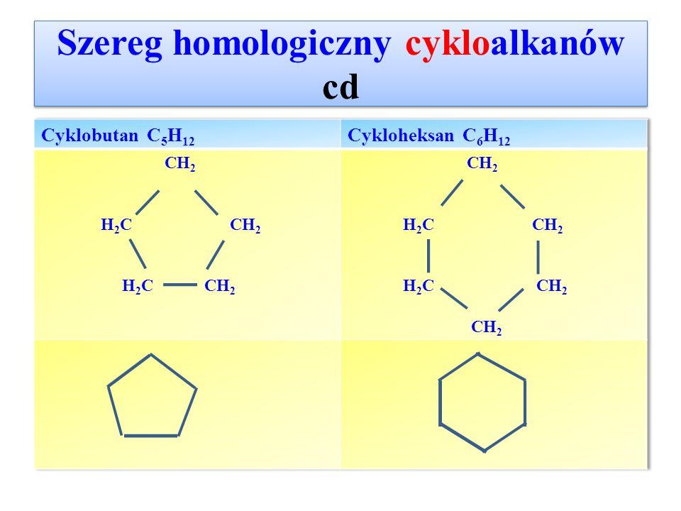 Izomeria położenia podstawnika W cykloalkanach o co najmniej 4 at.