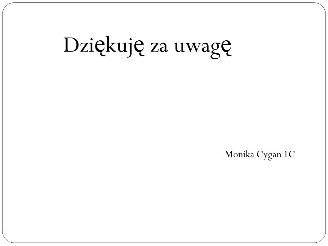 Dziękuję za uwagę Monika Cygan 1C