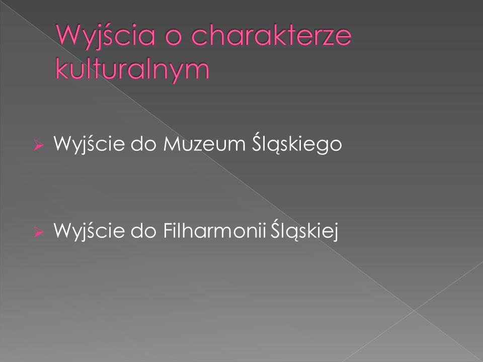  Wyjście do Muzeum Śląskiego  Wyjście do Filharmonii Śląskiej