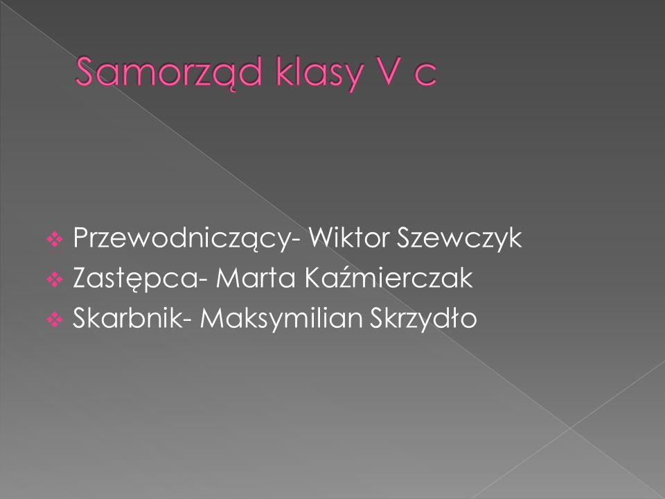  Przewodniczący- Wiktor Szewczyk  Zastępca- Marta Kaźmierczak  Skarbnik- Maksymilian Skrzydło