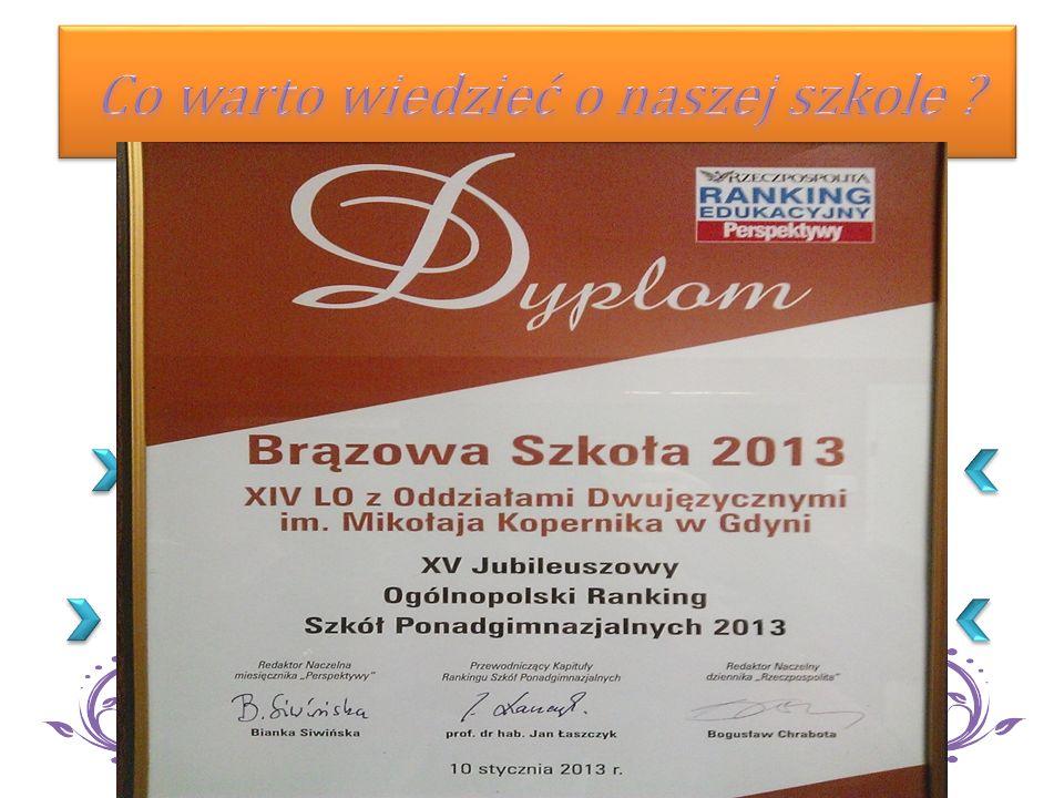 Wybierz XIV Liceum Ogólnokształcące w Gdyni ! EWD miarą jakości pracy naszej Szkoły