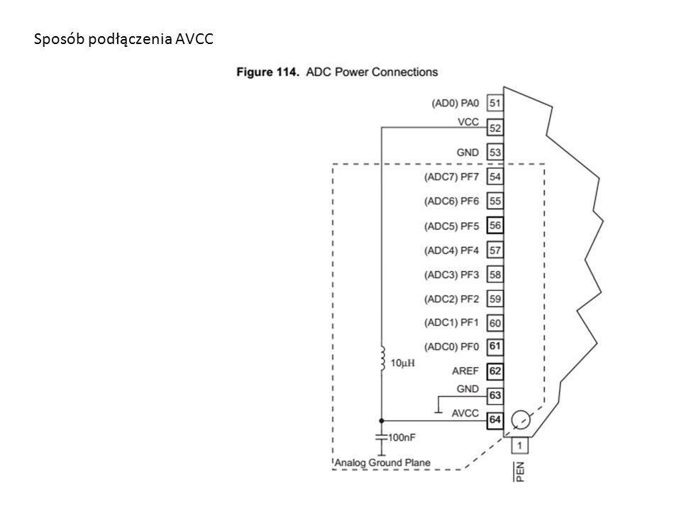 Sposób podłączenia AVCC