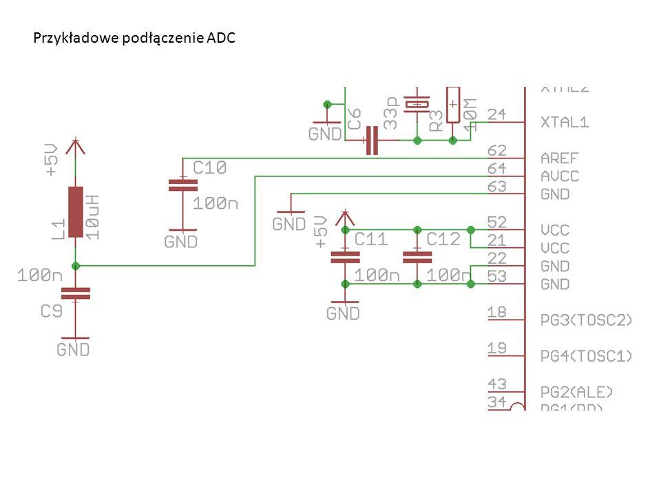 Przykładowe podłączenie ADC