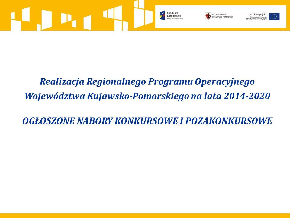 EFS Poddziałanie 9.4.1 Rozwój podmiotów sektora ekonomii społecznej (alokacja 4,85 mln euro) Poddziałanie 8.2.1 Wsparcie na rzecz podniesienia poziomu aktywności zawodowej osób pozostających bez zatrudnienia (alokacja 4,85 mln euro) Poddziałanie 8.4.1 Wsparcie zatrudnienia osób pełniących funkcje opiekuńcze (alokacja 5 mln euro) Poddziałanie 10.2.3 Kształcenie zawodowe (alokacja 2 mln euro) NABÓR POZAKONKURSOWY: Poddziałanie 9.4.2 Koordynacja sektora ekonomii społecznej (alokacja 2 880 000 zł) EFRR Działanie 4.4 Ochrona i rozwój zasobów kultury (alokacja 1,5 mln euro) Działanie 6.3 Inwestycje w infrastrukturę edukacyjną, Poddziałanie 6.3.2 Inwestycje w infrastrukturę kształcenia zawodowego (alokacja 6 mln euro) Działanie 1.5 Opracowanie i wdrażanie nowych modeli biznesowych dla MŚP, Poddziałania 1.5.2 Wsparcie procesu umiędzynarodowienia przedsiębiorstw (alokacja 4 mln euro) Działanie 4.1 Przeciwdziałanie zagrożeniom Poddziałanie 4.1.2 Wzmocnienie systemów ratownictwa chemiczno-ekologicznego i służb ratowniczych (alokacja 1,6 mln euro) Działanie 5.1 Infrastruktura drogowa – 2 konkursy (alokacja 18 mln euro i 21 mln euro) Działanie 6.3 Inwestycje w infrastrukturę kształcenia zawodowego, Poddziałanie 6.3.2 Inwestycje w infrastrukturę kształcenia zawodowego (alokacja 5 mln euro) II kwartał 2016 r.