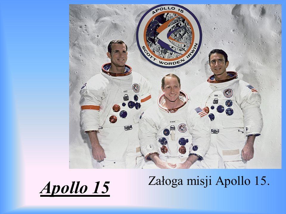 Apollo 15 Załoga misji Apollo 15.