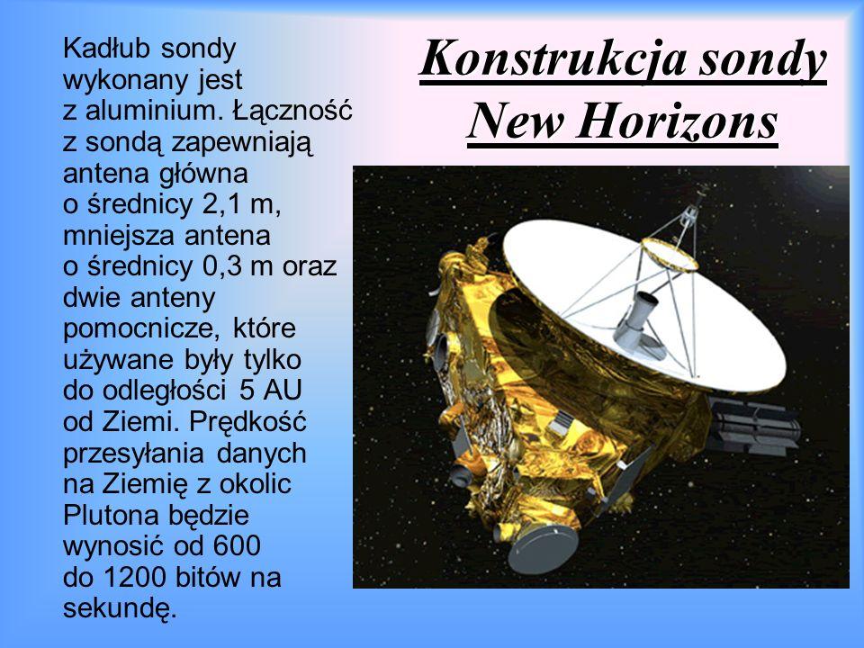 Konstrukcja sondy New Horizons Kadłub sondy wykonany jest z aluminium.