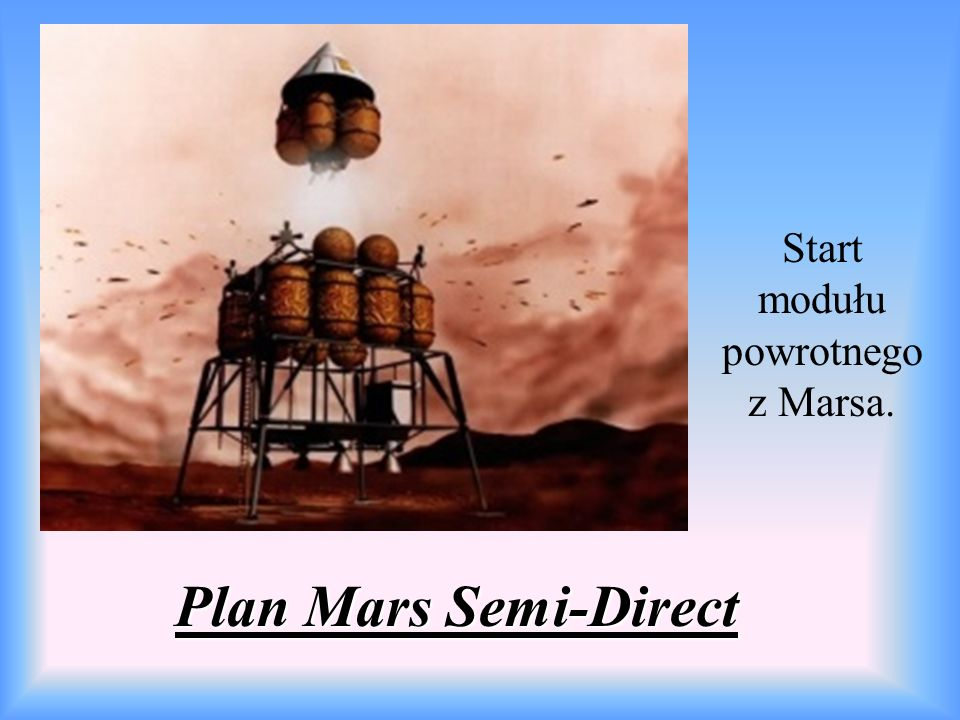 Plan Mars Semi-Direct Start modułu powrotnego z Marsa.