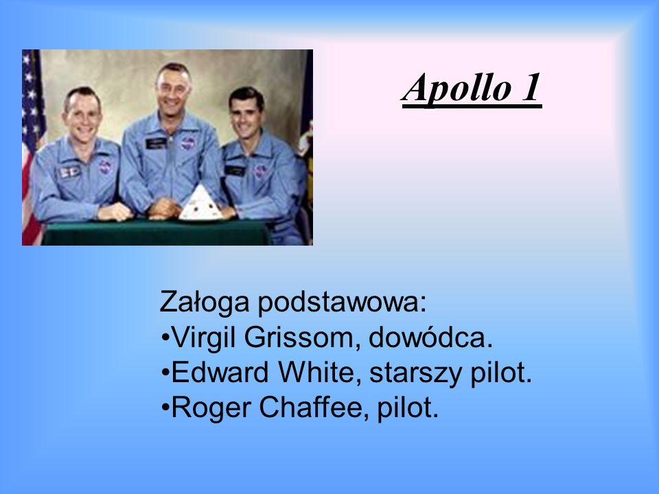 Apollo 1 Załoga podstawowa: Virgil Grissom, dowódca.