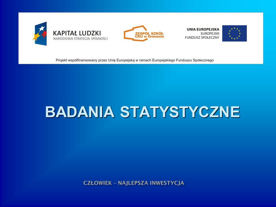 BADANIA STATYSTYCZNE