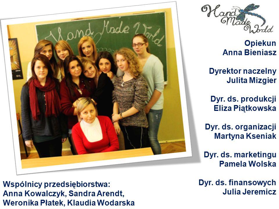 Opiekun Anna Bieniasz Dyrektor naczelny Julita Mizgier Dyr.
