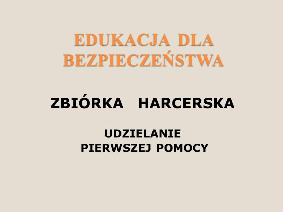 SAMARYTANKA – CZYLI ZAJĘCIA Z PIERWSZEJ POMOCY  Zajęcia zostały przeprowadzone podczas zbiórki harcerskiej, przez instruktorów ZHP.