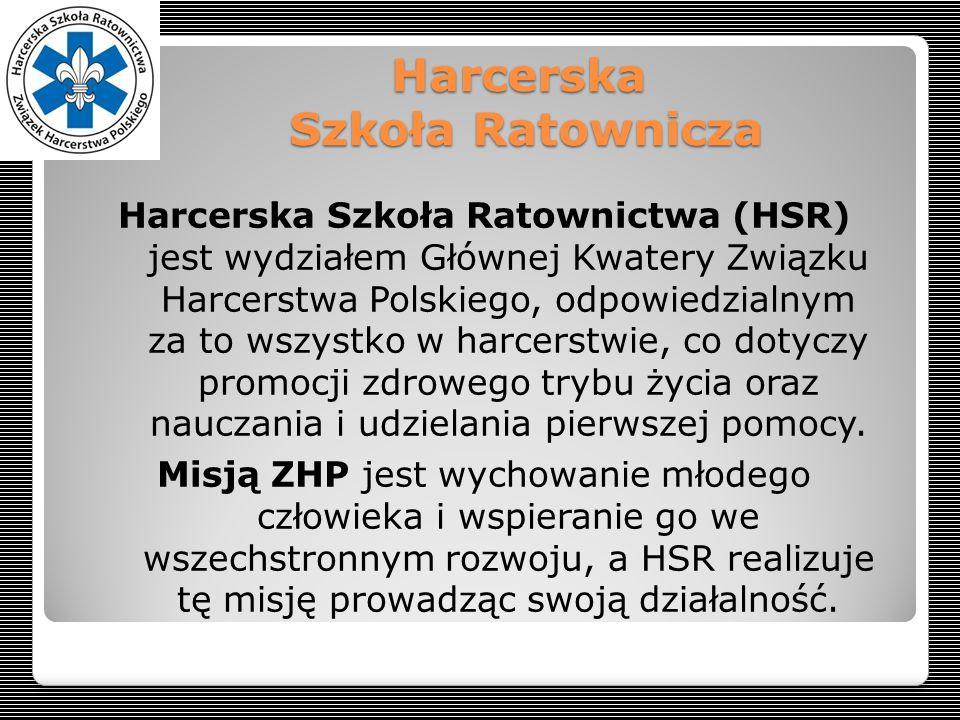 Harcerska Szkoła Ratownicza Harcerska Szkoła Ratownictwa (HSR) jest wydziałem Głównej Kwatery Związku Harcerstwa Polskiego, odpowiedzialnym za to wszy