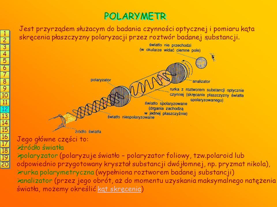 enancjomerów są takie same z wyjątkiem oddziaływania ze światłem spolaryzowanym. światło niespolaryzowane (drgania we wszystkich płaszczyznach) światł