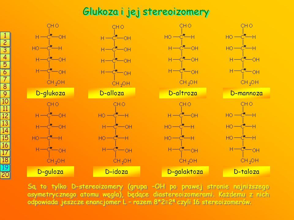 LICZBA STEREOIZOMERÓW 1345789101112131415201918171626 n Liczba stereoizomerów Liczba par enancjomerów Przykład substancji 1 2 2,3-dichlorobutanal 3 fr