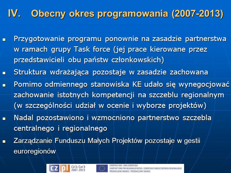 Przygotowanie programu ponownie na zasadzie partnerstwa w ramach grupy Task force (jej prace kierowane przez przedstawicieli obu państw członkowskich)