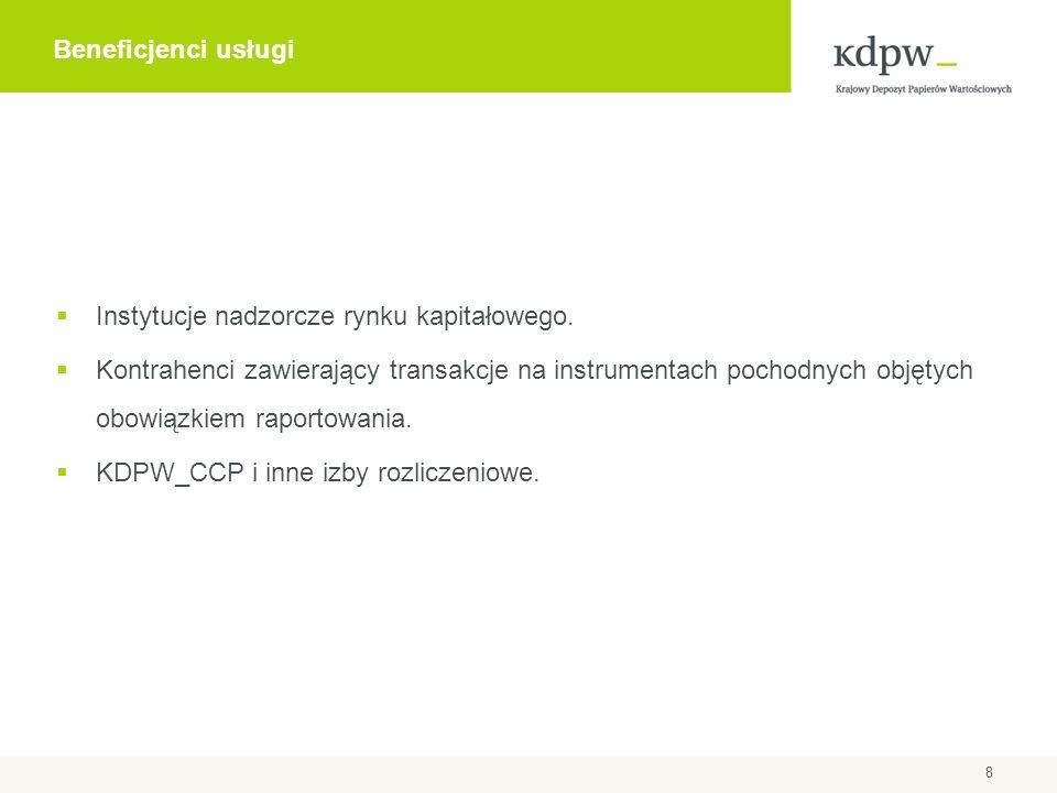 Typy uczestnictwa w repozytorium KDPW  Uczestnictwo bezpośrednie, związane z przekazywaniem informacji o transakcjach do repozytorium.