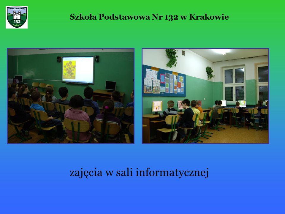 zajęcia w sali informatycznej Szkoła Podstawowa Nr 132 w Krakowie